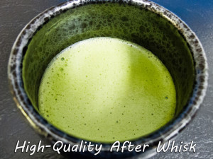 High-Quality Matcha after whisk