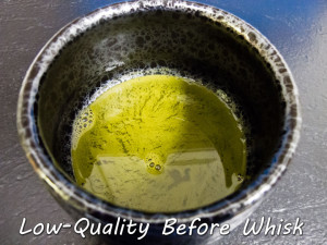 Low-Quality Matcha Before Whisk