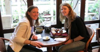 With my cousin Amelia at the Wistaria Tea House enjoying two different pots of tea with traditional pineapple cakes!