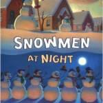 8 snowmen at night