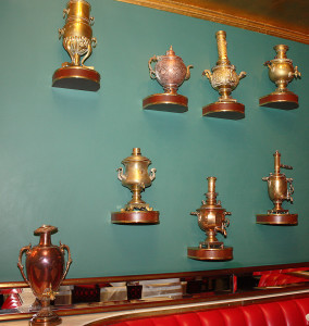 Russian Tea Room-Samovars-by Linnea Covington