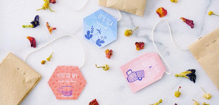 DIY: Tea Bags with Printable Floral Tea Tags